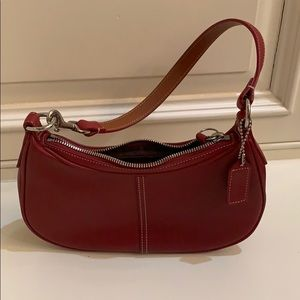 Sweet red coach bag, silver hardware - like new!